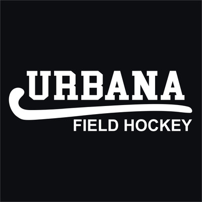 Urbana Hawks Vinyl Decal FIELD HOCKEY STICK Car Truck Mirror Wall Laptop Tablet Thermos WHITE