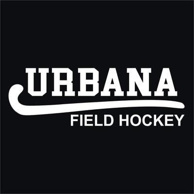 Urbana Hawks Vinyl Decal FIELD HOCKEY STICK Car Truck Mirror Wall Laptop Tablet Thermos WHITE