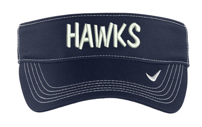 Urbana Hawks Tennis Baseball Visor Hat Embroidered NAVY
