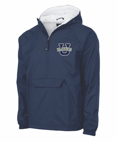 UHS Urbana Hawks Half Zip Pullover Nylon Jacket Charles River Personalization Available NAVY