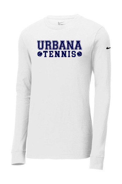 UHS Urbana Hawks TENNIS LS T-shirt NIKE Cotton Many Colors Available WHITE