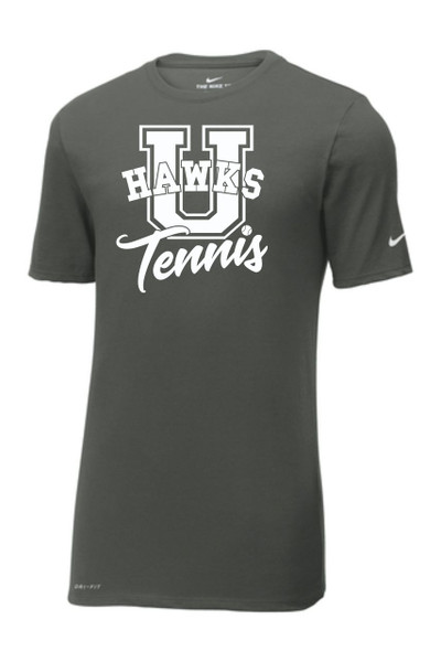 UHS Urbana Hawks TENNIS T-shirt Cotton Poly U Many Colors Available T-shirt NIKE DRI-FIT ANTHRACITE