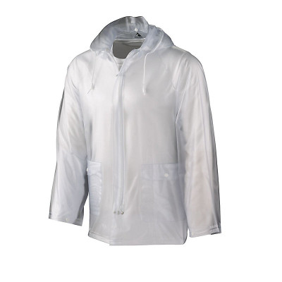 Zippered Clear Rain Jacket  Adult S-2XL Youth S-L