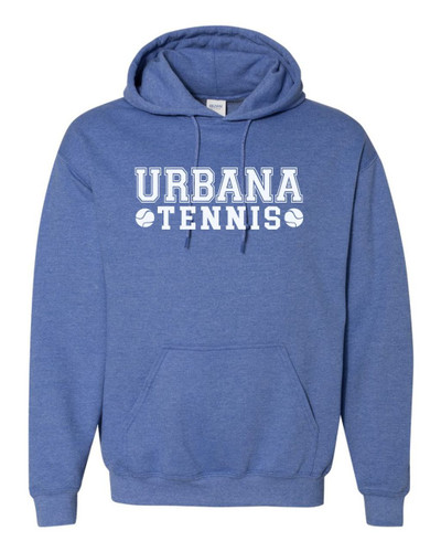 UHS Urbana Hawks TENNIS Cotton Heathered Hoodie Sweatshirt Many Colors Available HEATHER ROYAL