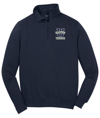 Urbana Hawks Qtr Zip Cotton Pullover UHS TENNIS U VARSITY Many Colors Available SZ S-4XL NAVY