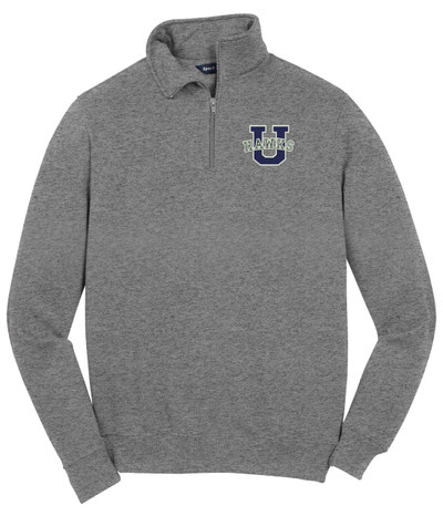 Urbana Hawks Qtr Zip Cotton Pullover UHS U VARSITY Many Colors Available SZ S-4XL VINTAGE HEATHER