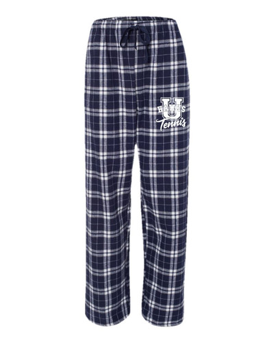 Urbana Hawks Flannel Lounge Pants with Pockets TENNIS Boxercraft Unisex Sizes ADULT NAVY SILVER Size S-2XL