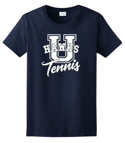 UHS Urbana Hawks TENNIS U T-shirt Cotton LADIES Many Colors Available Sz XS-XL NAVY