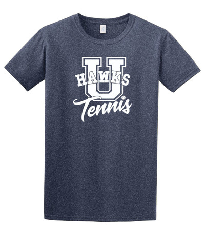 UHS Urbana Hawks TENNIS T-shirt U Cotton Many Colors & Sizes Available S-3XL HEATHERED NAVY