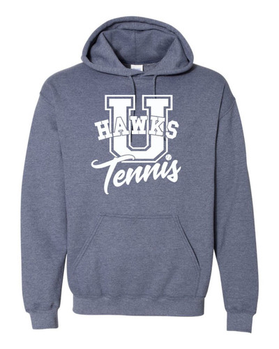 UHS Urbana Hawks TENNIS Cotton Heathered Hoodie U Sweatshirt Many Colors Available Size S-3XL HEATHERED NAVY