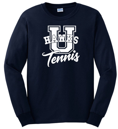 UHS Urbana Hawks TENNIS T-shirt LONG SLEEVE U Cotton Many Colors Available Sz S-3XL NAVY