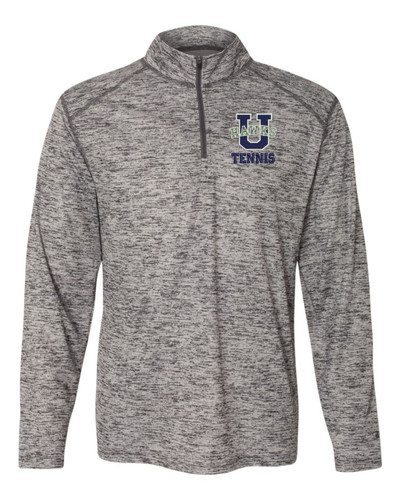 Urbana Hawks Quarter Zip Performance UHS TENNIS U Tonal Blend Badger Polyester Many Colors Available Size S-3XL GRAPHITE GREY