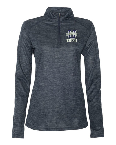 Urbana Hawks Quarter Zip Performance LADIES UHS TENNIS U Tonal Blend Badger Polyester Many Colors Available Sz S-3XL NAVY