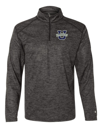 Urbana Hawks Qtr Zip Performance UHS U Tonal Blend Badger Polyester Many Colors Available Size S-3XL BLACK