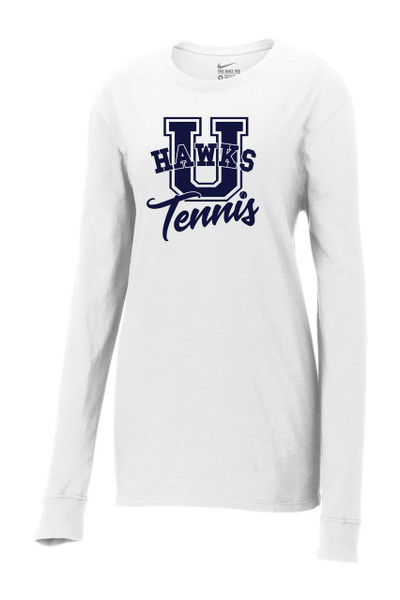 UHS Urbana Hawks TENNIS T-shirt NIKE U Cotton LADIES Many Colors Available Size S-2XL WHITE