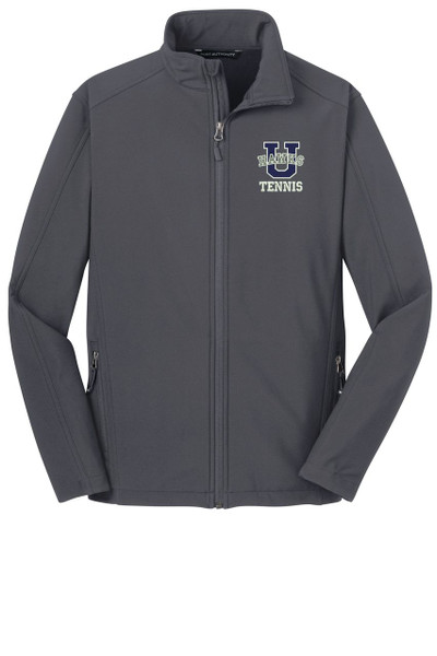 Urbana Hawks Softshell UHS TENNIS U Jacket UNISEX MENS, WOMENS & YOUTH SIZES Colors Navy or Grey Available BATTLESHIP GREY