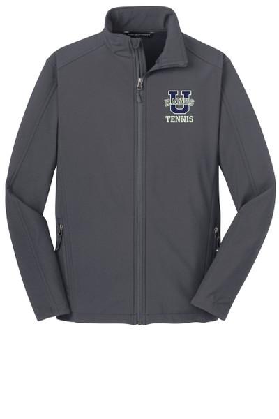 Urbana Hawks Softshell UHS TENNIS U Jacket UNISEX MENS, WOMENS & YOUTH SIZES Colors Navy or Grey Available BATTLESHIP GREY