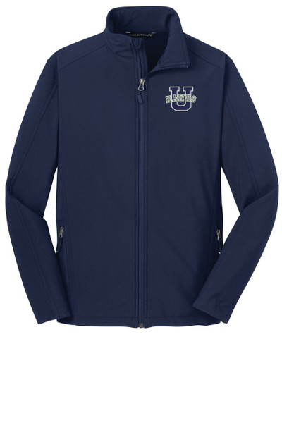 Urbana Hawks U Softshell Jacket UNISEX MENS & YOUTH SIZES  NAVY