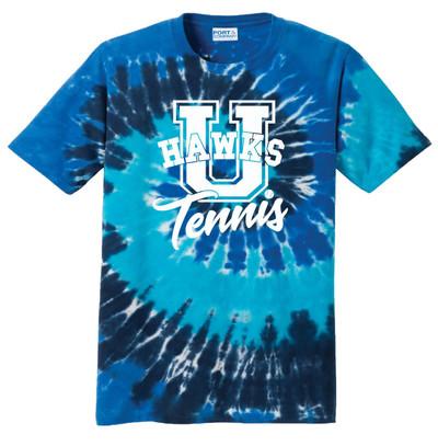 UHS Urbana Hawks TENNIS T-shirt Cotton U TIE DYE OCEAN RAINBOW Size S-4XL