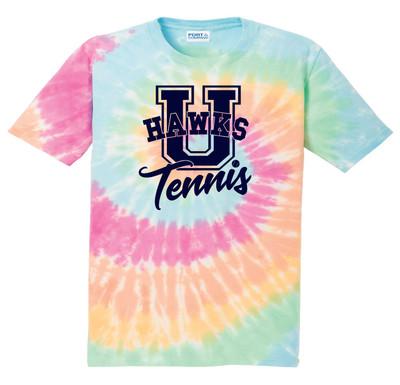 UHS Urbana Hawks TENNIS T-shirt Cotton U TIE DYE PASTEL RAINBOW Size S-4XL