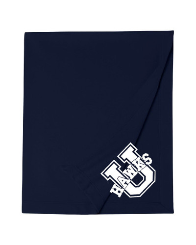 Urbana Cotton Sweatshirt Stadium Blanket U 50x60 MANY COLORS AVAILABLE NAVY