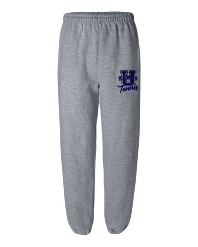 Urbana Hawks Sweatpants Cotton ELASTIC CUFF Bottom TENNIS U ADULT Colors Navy or Grey Available Size S-2XL SPORTS GREY