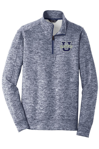 Urbana Hawks Qtr Zip Performance UHS U Varsity PosiCharge Electric Heather Fleece Polyester Pullover Many Colors Available Sz XS-4XL TRUE NAVY ELECTRIC