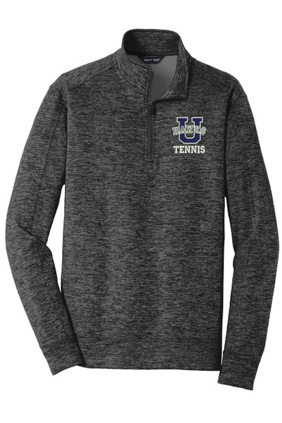Urbana Hawks Qtr Zip Performance UHS TENNIS U Varsity PosiCharge Electric Heather Fleece Polyester Pullover Many Colors Available Sz XS-4XL GREY/BLACK ELECTRIC