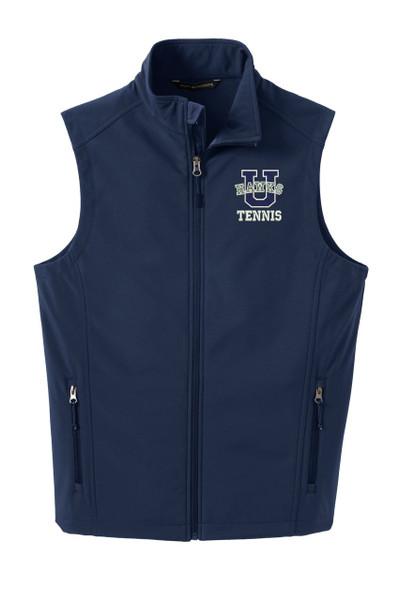 Urbana Hawks Softshell UHS TENNIS U VEST Jacket UNISEX Many Colors Available Size XS-4XL DRESS BLUE NAVY