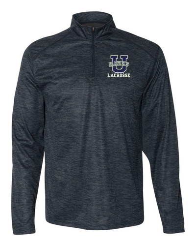 Urbana Hawks Performance Quarter Zip Pullover Badger Tonal Blend LACROSSE Polyester Many Colors Available SZ S-3XL NAVY