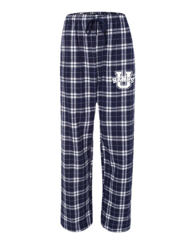 Urbana Hawks Flannel Lounge Pants with Pockets Boxercraft Unisex NAVY/SILVER YOUTH SZ S-L