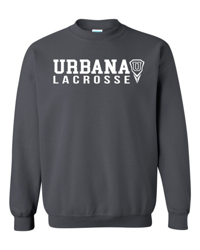 Urbana Hawks LACROSSE Cotton Crewneck Sweatshirt Many Colors Available Size S-3XL CHARCOAL