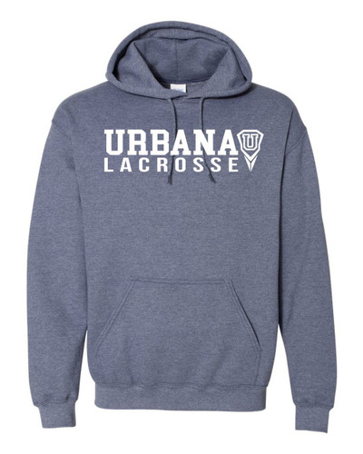 Urbana Hawks LACROSSE Cotton Heathered Hoodie U Sweatshirt Many Colors Available Size S-3XL HEATHERED NAVY