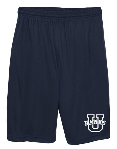 Urbana Hawks Shorts Performance with Pockets Colors Navy or Grey Available YOUTH SZ S-L NAVY