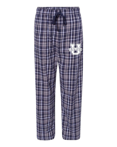Urbana Hawks Flannel Lounge Pants with Pockets Boxercraft Unisex NAVY/WHITE YOUTH SZ S-L