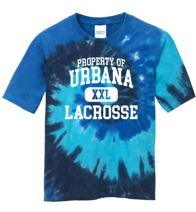 Urbana Hawks LACROSSE T-shirt Cotton TIE DYE OCEAN RAINBOW Property Of Size S-4XL