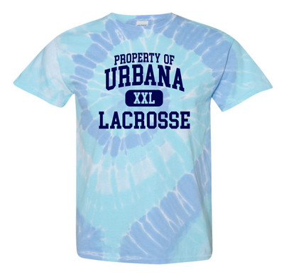 Urbana Hawks LACROSSE T-shirt Cotton Property Of TIE DYE WILDFLOWER SZ S-2XL