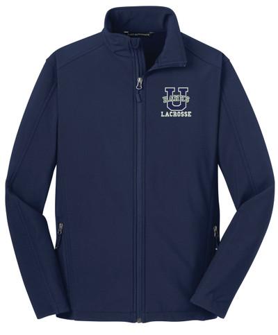 Urbana Hawks Softshell LACROSSE U Jacket Colors Navy or Grey Available SZ XS-3XL  DRESS BLUE NAVY