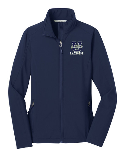 Urbana Hawks Softshell LACROSSE Jacket  Colors Navy or Grey Available LADIES SZ S-3XL DRESS BLUE NAVY