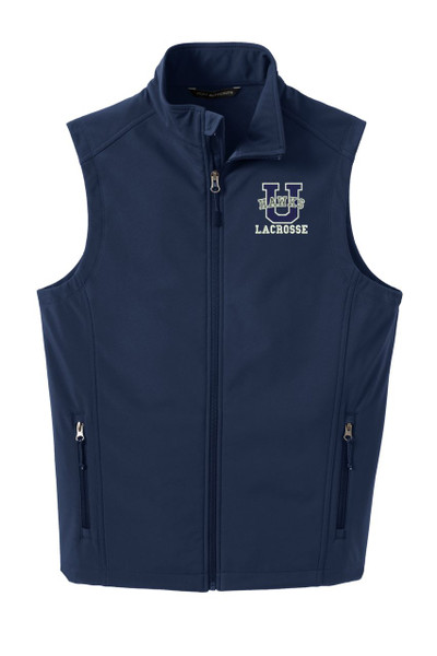Urbana Hawks Softshell LACROSSE VEST Jacket UNISEX Many Colors Available Size XS-4XL DRESS BLUE NAVY