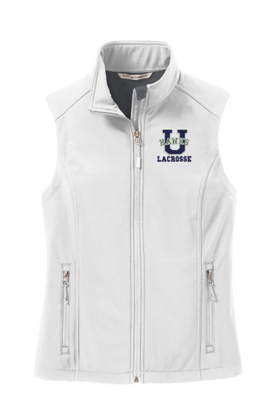 Urbana Hawks Softshell LACROSSE VEST Jacket UNISEX Many Colors Available Size  LADIES XS-4XL  MARSHMALLOW