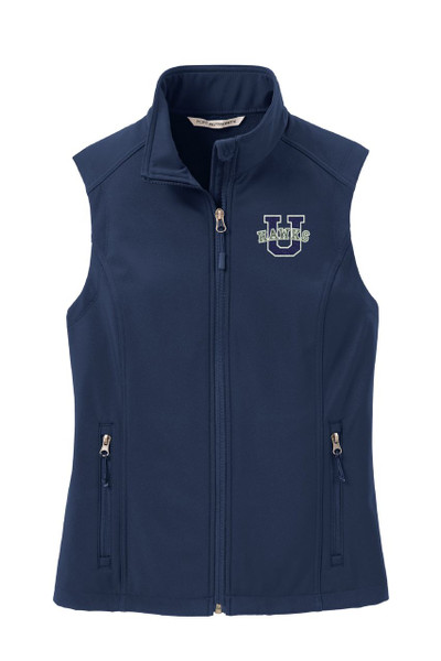Urbana Hawks Softshell U VEST Jacket UNISEX Many Colors Available Size  LADIES XS-4XL DRESS BLUE NAVY