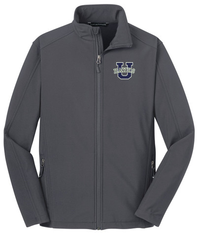 Urbana Hawks Softshell Jacket  Colors Navy or Grey Available YOUTH SZ S-XL BATTLESHIP GREY