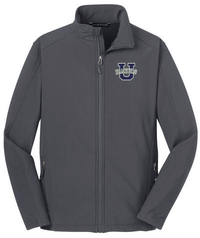 Urbana Hawks Softshell Jacket  Colors Navy or Grey Available YOUTH SZ S-XL BATTLESHIP GREY