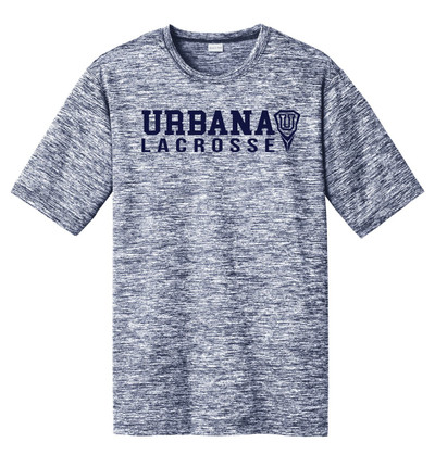 Urbana Hawks LACROSSE T-shirt Performance U PosiCharge Electric Shirt Many Colors Available Sizes XS-4XL TRUE NAVY ELECTRIC