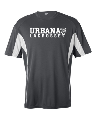 Urbana Hawks LACROSSE T-shirt Performance U Badger B-Core Shirt Many Colors Available YOUTH SZ S-XL GRAPHITE/WHITE