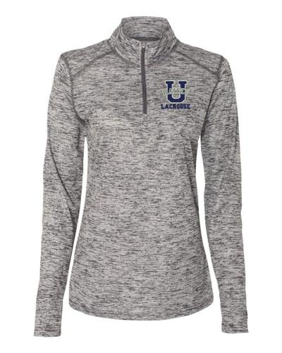 Urbana Hawks Performance Quarter Zip LACROSSE LADIES Sweatshirt Tonal Blend Badger Polyester Many Colors Available Sz S-2XL GRAPHITE GREY