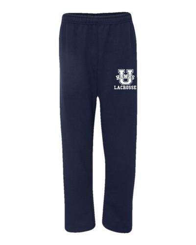 Urbana Hawks Sweatpants LACROSSE Cotton OPEN LEG YOUTH Many Colors Available SZ S-XL  NAVY