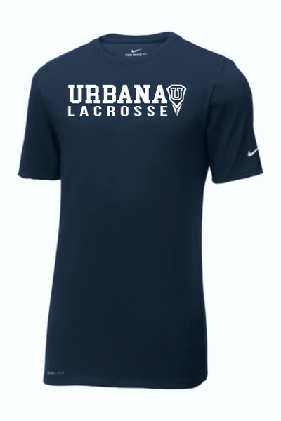 Urbana Hawks LACROSSE T-shirt Cotton Polyester Many Colors Available T-shirt NIKE DRI-FIT SZ S-3XL NAVY