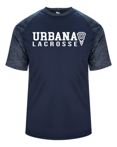 Urbana Hawks LACROSSE T-shirt Performance Badger Tonal T-Shirt Graphite or Navy YOUTH SZ S-XL  NAVY